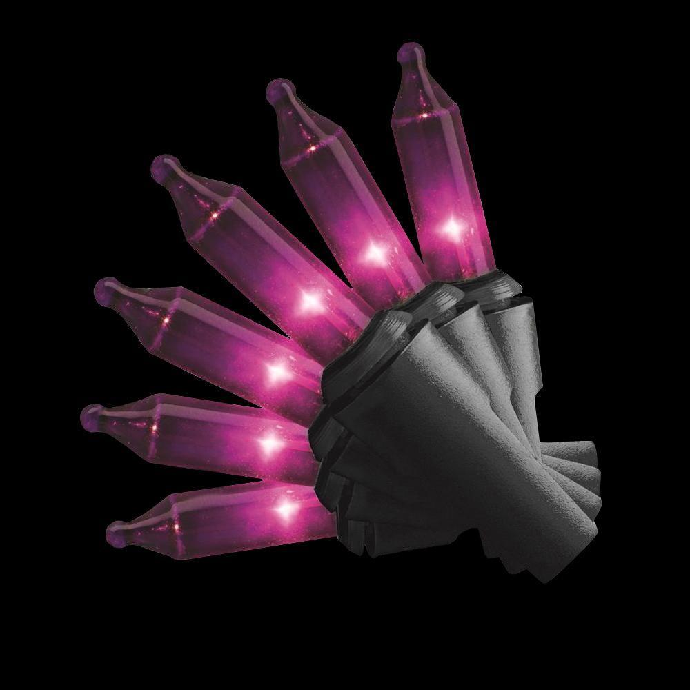 22 ft. 100-Light Mini Purple Halloween String Lights