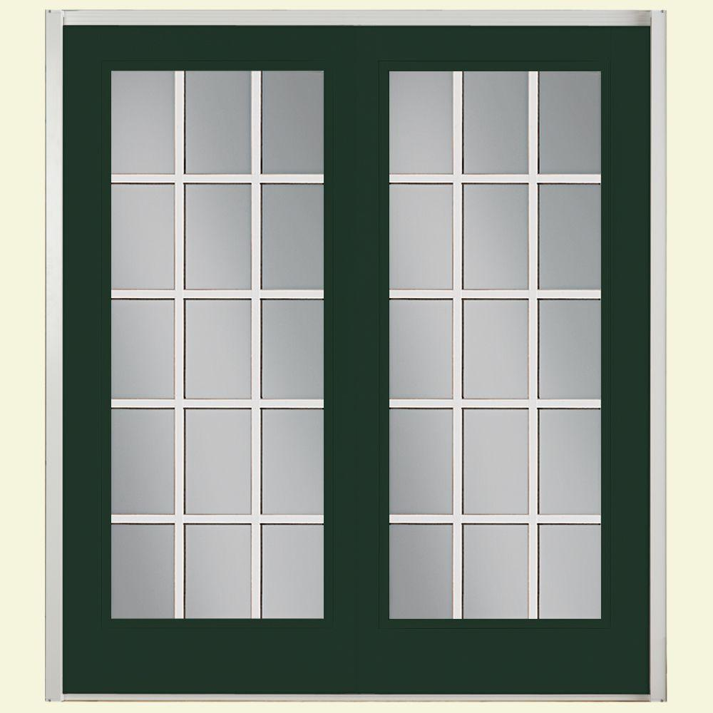 72 in. x 80 in. Conifer Prehung Left-Hand Inswing 15 Lite