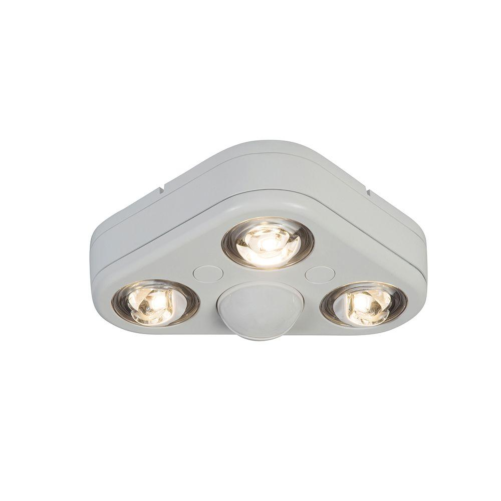 Revolve 270-Degree White Triple Head Motion Activated Outdoor Integrated LED