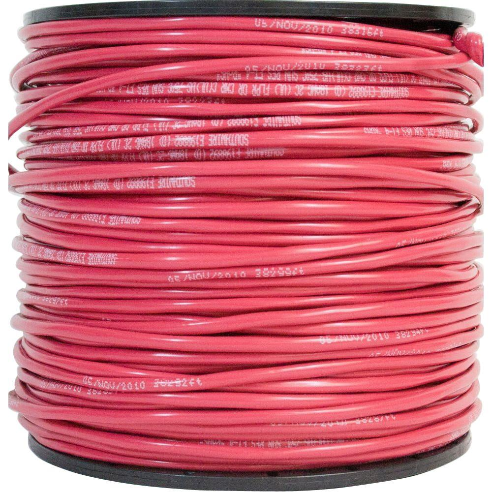 Southwire 500 ft. 18-4 Red Solid CU Unshield FPLP Alarm Cable ...