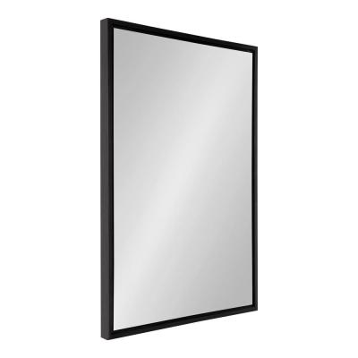 Medium Rectangle Black Modern Mirror (36 in. H x 24 in. W)