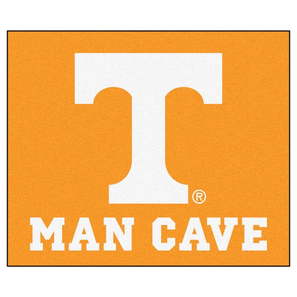 University of Tennessee Orange Man Cave 5 ft. x 6 ft. Area Rug