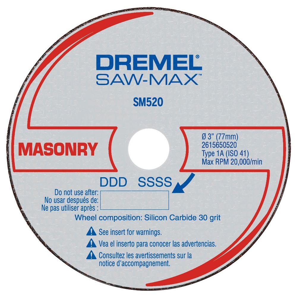 Saw-Max 3 in. Carbon Masonry Cutoff Wheel for Masonry, Stone, and Concrete