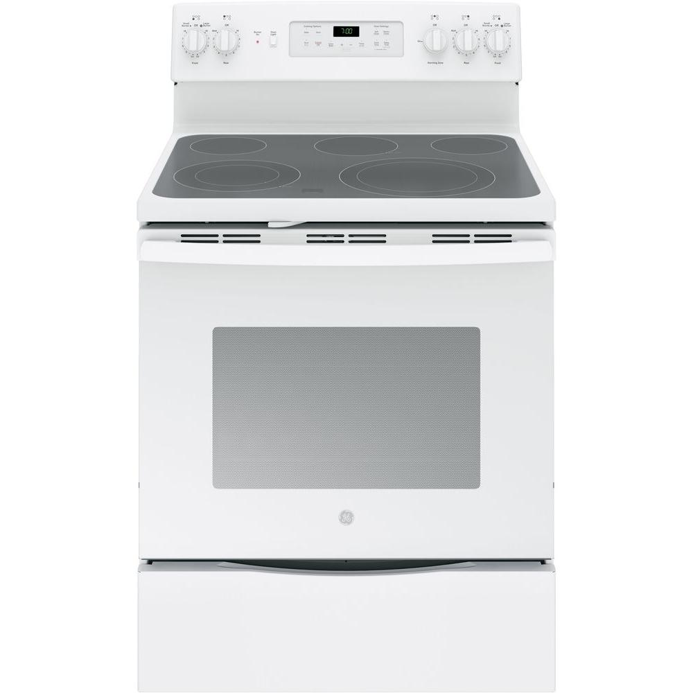 GE 5.3 cu. ft. Electric Range with Self-Cleaning Convecti...