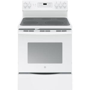 Click here to buy GE 5.3 cu. ft. Electric Range with Self-Cleaning Convection Oven in White by GE.