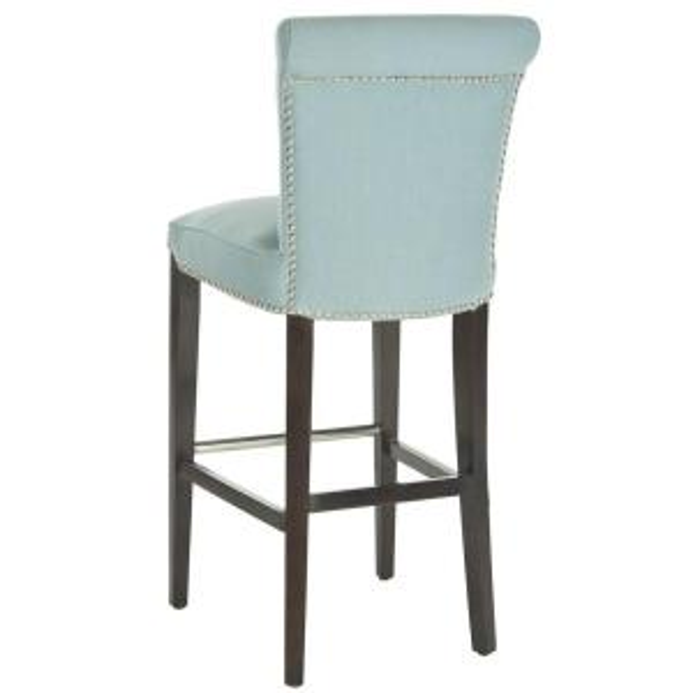 Miraculous Safavieh Seth 29 3 In Sky Blue Cushioned Bar Stool Mcr4510H Lamtechconsult Wood Chair Design Ideas Lamtechconsultcom