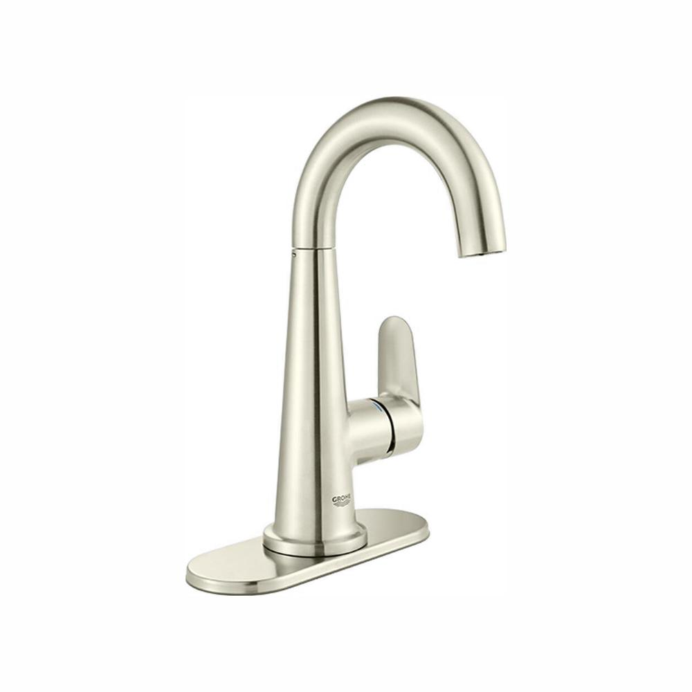 GROHE Veletto 4 in. Centerset Single-Handle Bathroom Faucet in Brushed Nickel InfinityFinish