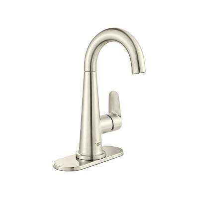 Veletto 4 in. Centerset Single-Handle Bathroom Faucet in Brushed Nickel InfinityFinish