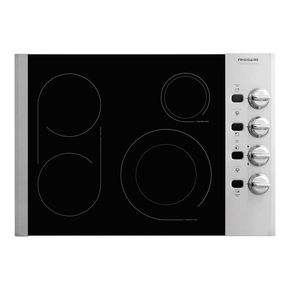 Frigidaire 30 in. Radiant Electric Cooktop in Stainless Steel with 4 Elements including PowerPlus Element