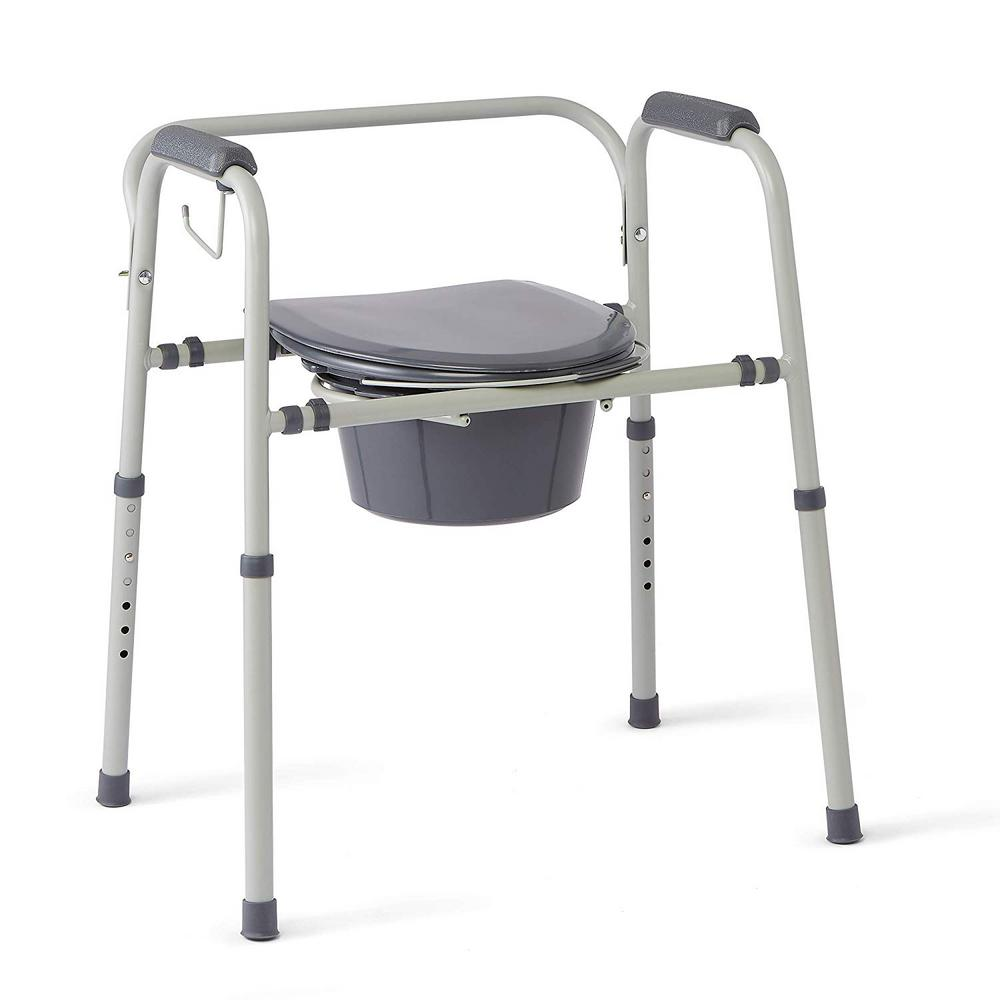 Terrific Medline Steel 3 In 1 Bedside Commode Portable Toilet With Microban Antimicrobial Protection Gmtry Best Dining Table And Chair Ideas Images Gmtryco