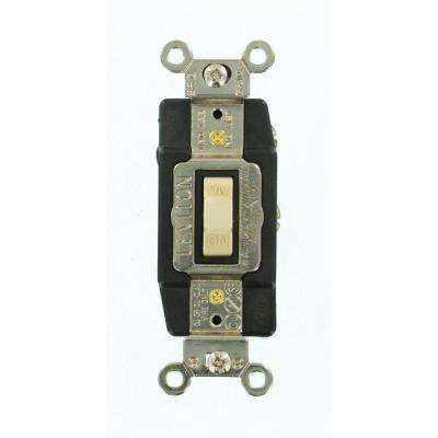 15 Amp Industrial Grade Heavy Duty Single-Pole Double-Throw Center-Off Momentary Contact Toggle Switch, Ivory