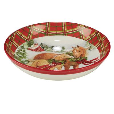 Christmas on the Farm by Susan Winget 13.25 in. Serving/Pasta Bowl