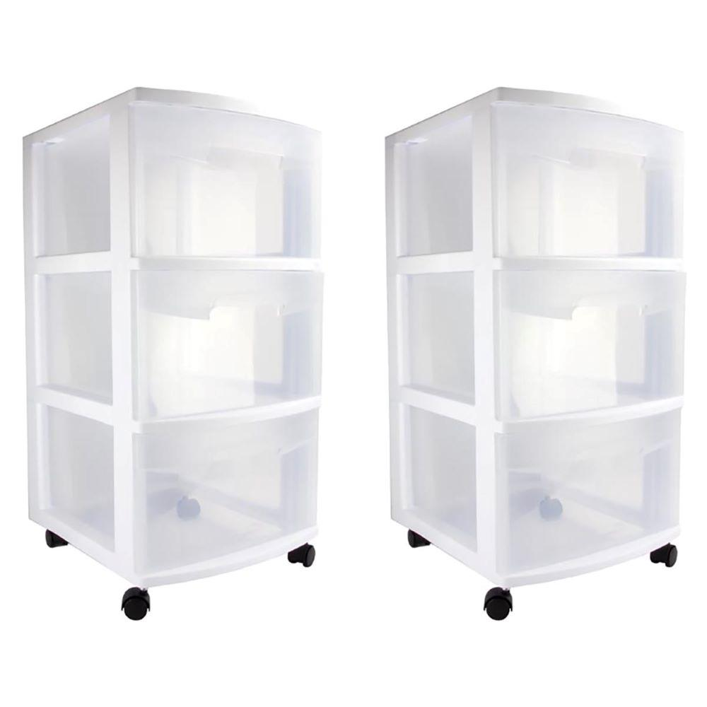 Storage Containers Cart Clear Bins Plastic Rolling Stackable Unit Organizer Ches