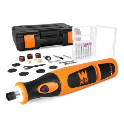 Variable Speed Lithium-Ion Cordless Rotary Tool Kit with 24-Piece Accessory Set, Charger, and Carrying Case