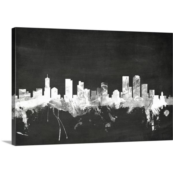 Greatcanvas Denver Colorado Skyline By Michael Tompsett Canvas Wall Art