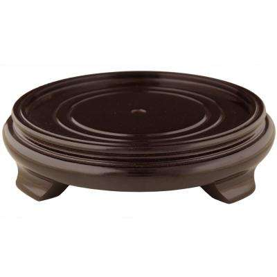Rosewood 11 in. W Decorative Round Stand