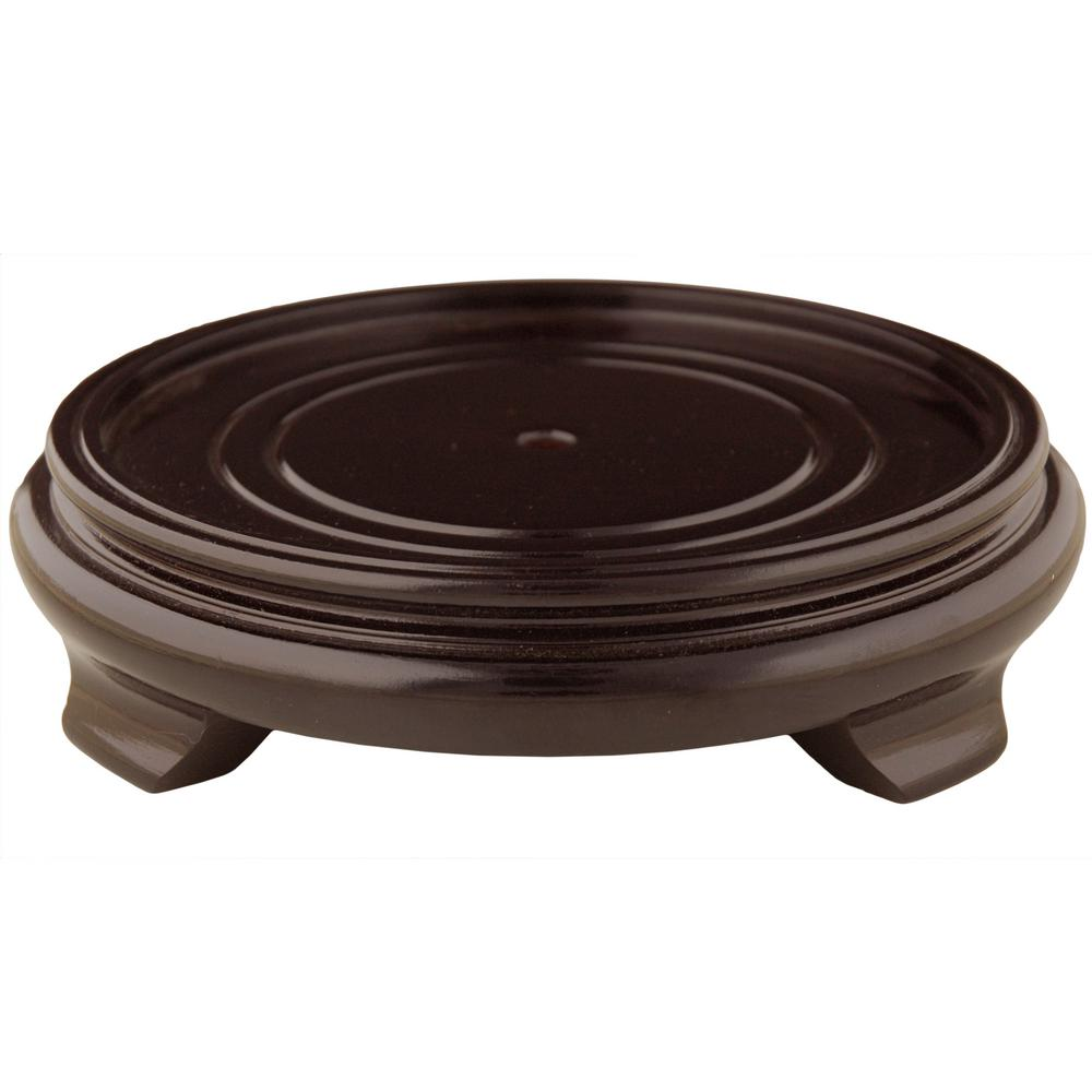 Oriental Furniture Rosewood 9 5 In W Decorative Round Stand