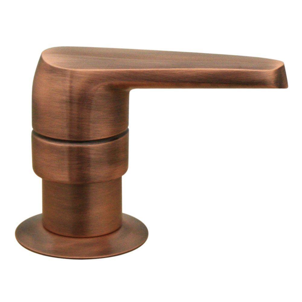 Kitchen Deck Mount Soap/Lotion Dispenser in Antique Copper