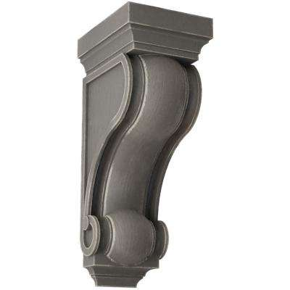 6 in. x 16 in. x 7-1/2 in. Reclaimed Grey Devon Traditional Wood Vintage Decor Corbel