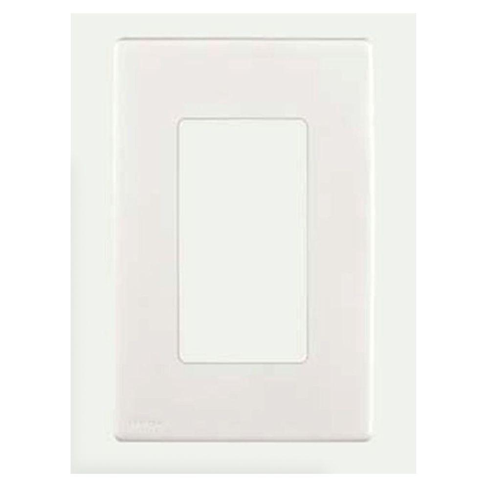 Leviton Renu 1 Gang Screwless Snap-on Wall Plate - White on White-DISCONTINUED