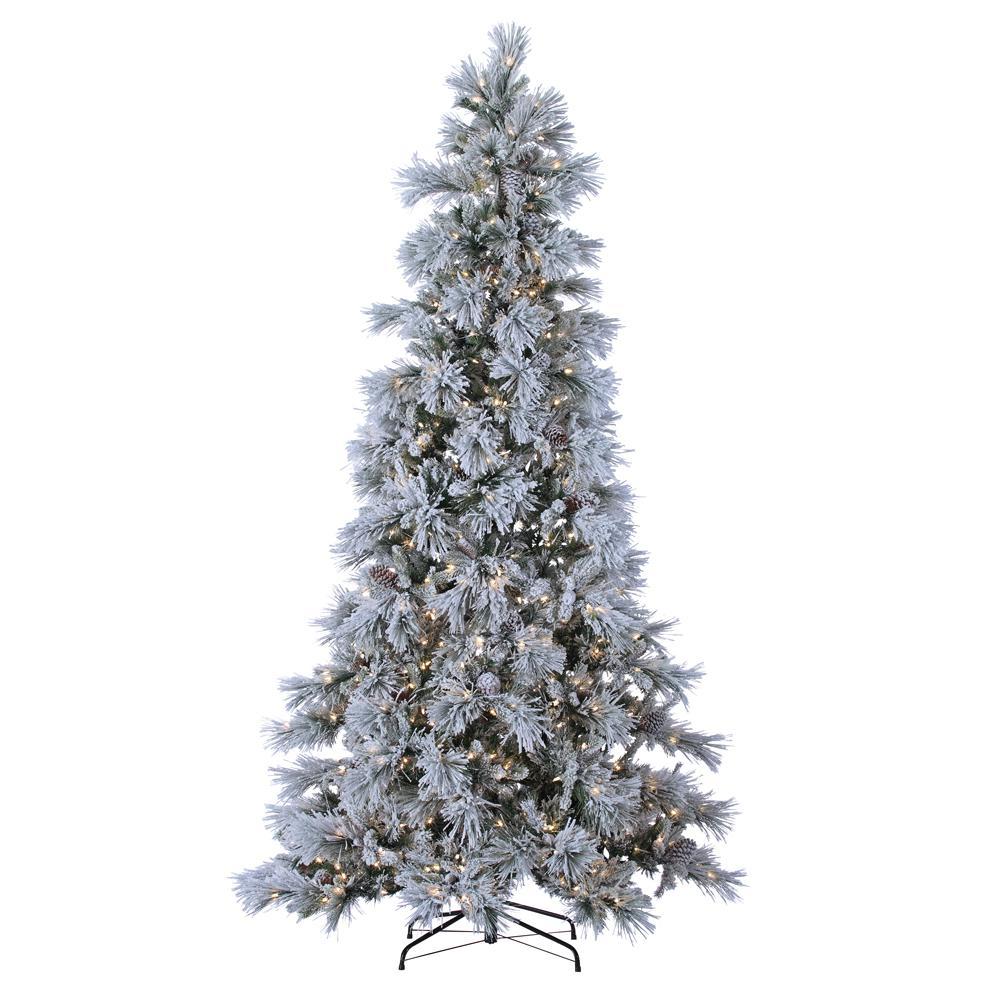 Sterling 9 ft. Indoor Pre-Lit Lightly Flocked Snowbell ...