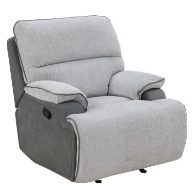 Cyprus 2-Tone Grey Upholstered Recliner Chair