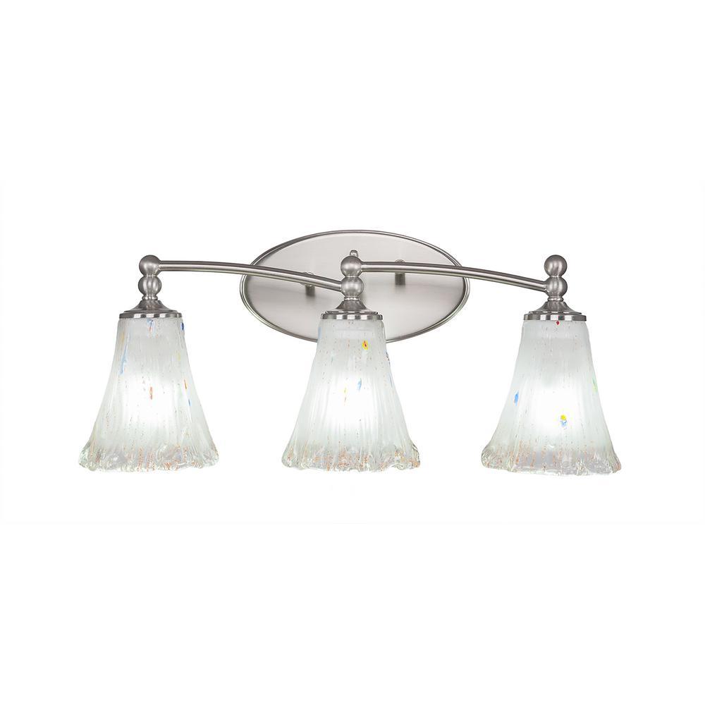 3-Light Brushed Nickel Bath Light