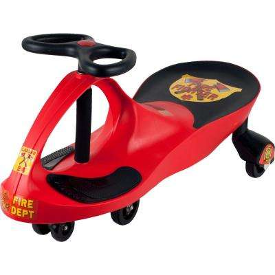 Red Rescue Firefighter Wiggle Ride-on Car