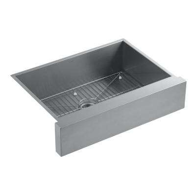 Vault Undermount Stainless Steel 30 in. Single Basin Kitchen Sink Kit