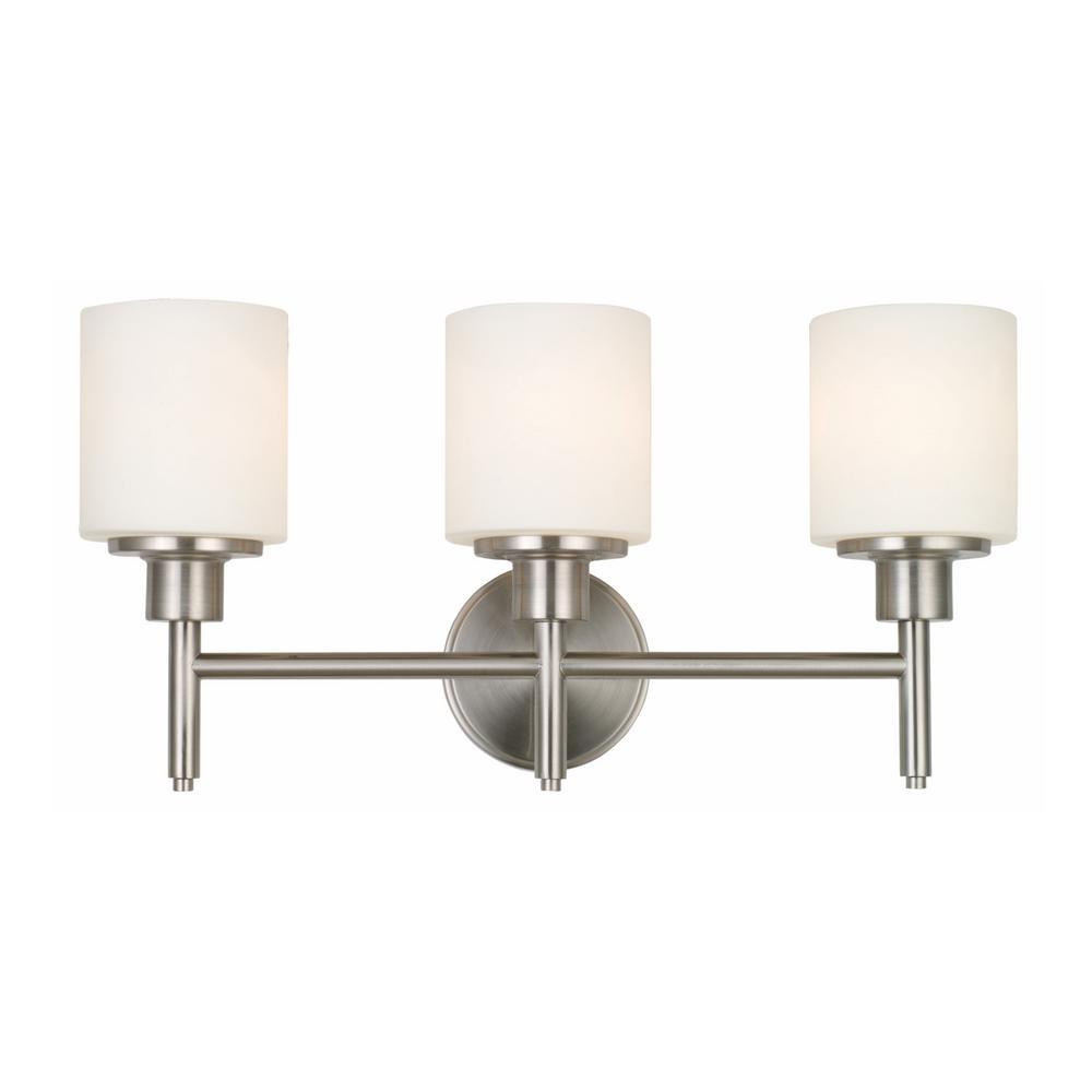 Design House Aubrey 30-Watt Satin Nickel Integrated LED 3-Light Vanity Light