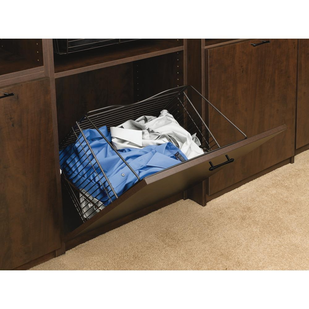 Rev-A-Shelf 21 in. x 19.75 in. Oil Rubbed Bronze Pull-Out Hamper Basket
