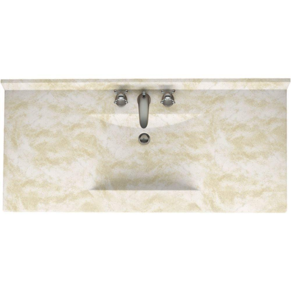 Swanstone Contour 49 In Solid Surface Vanity Top With Basin In Cloud White Cv2249 125 The