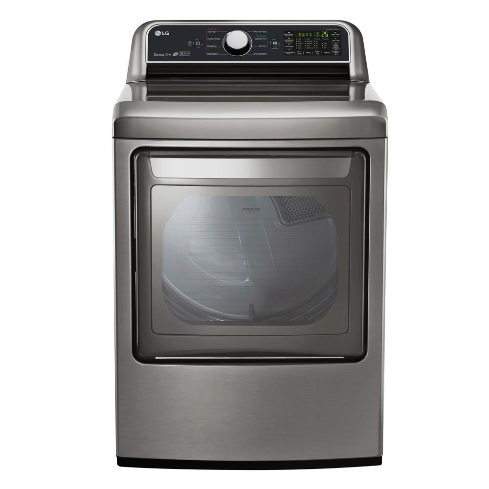 7.3 cu. ft. Smart Electric Dryer with WiFi Enabled in Graphite