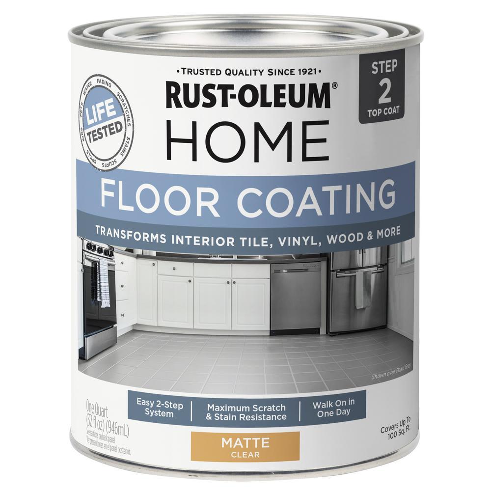 Rust-Oleum Home 1 qt. Matte Clear Interior Floor Topcoat
