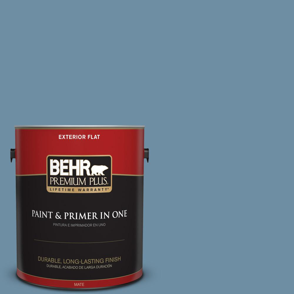 1 gal. #PPU14-04 French Court Flat Exterior Paint
