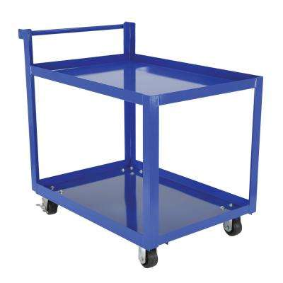Steel Service Cart with Two 28 x 40 Shelves