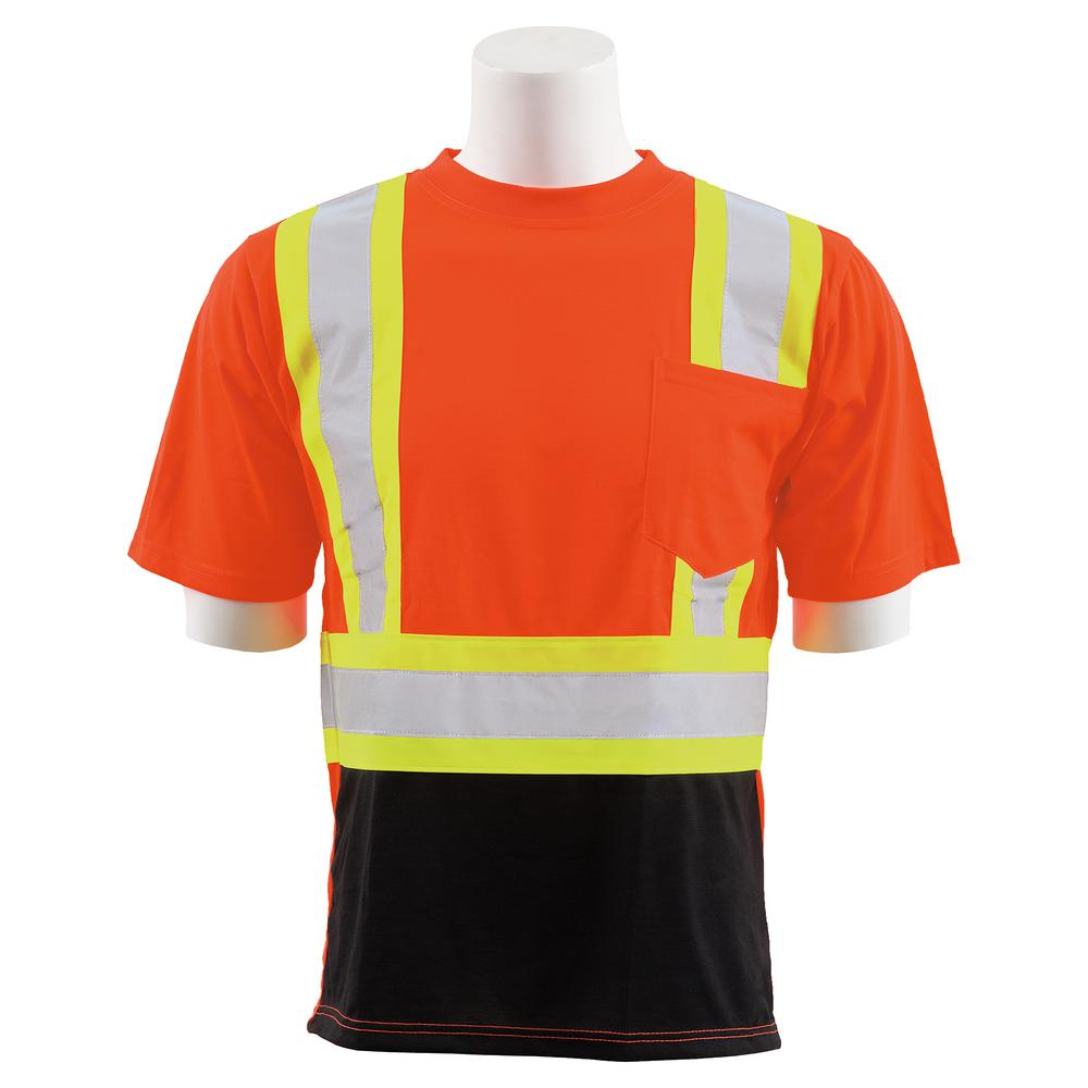 Erb 9601sbc Men S Md Hi Viz Orange Polyester Safety T Shirt 63607 The Home Depot