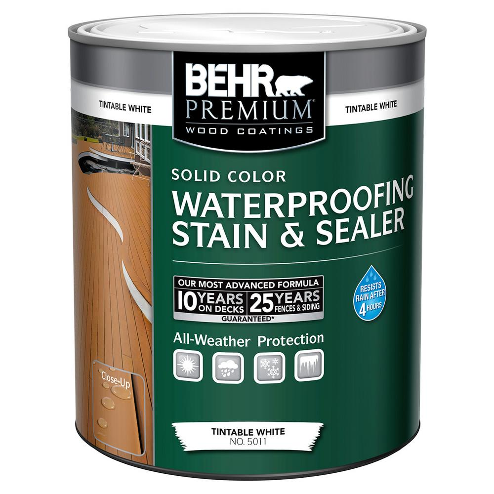 1-qt. White Tint Base Solid Color Waterproofing Stain and Sealer