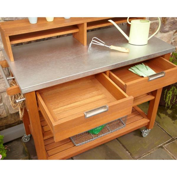 Home Styles - Bali Hai Potting Bench