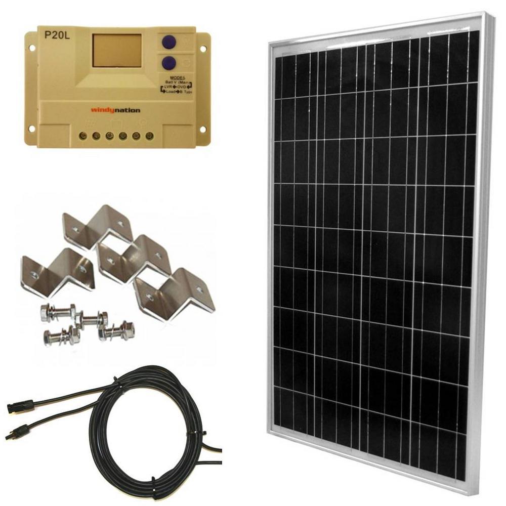 100-Watt Off-Grid Polycrystalline Solar Panel Kit