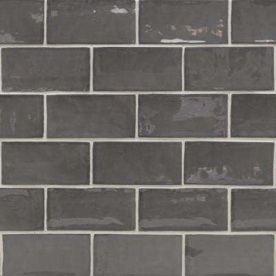 Catalina Driftwood 3 in. x 6 in. x 8 mm Ceramic Wall Subway Tile
