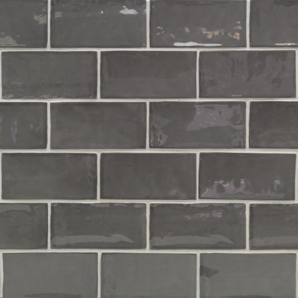 Subway gray backsplash tile flooring the home depot catalina driftwood 3 in x 6 in x 8 mm ceramic wall subway tile dailygadgetfo Choice Image