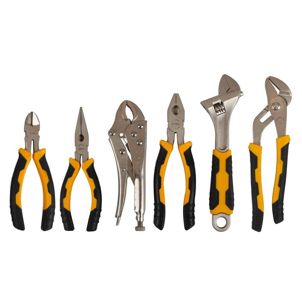 OLYMPIA Plier and Adjustable Wrench Set (6-Piece)