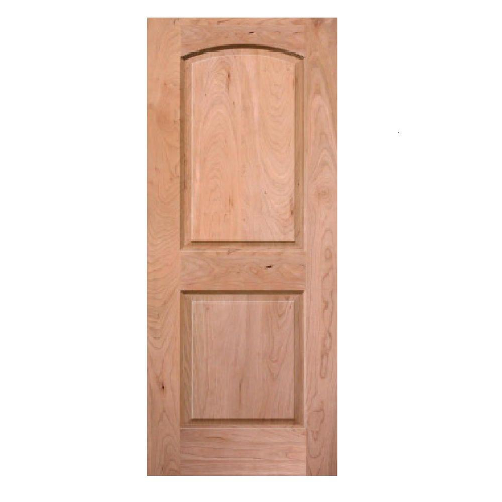 Krosscore 2-Panel Arch Top Honeycomb Core Cherry Wood Single Prehung Interior Door
