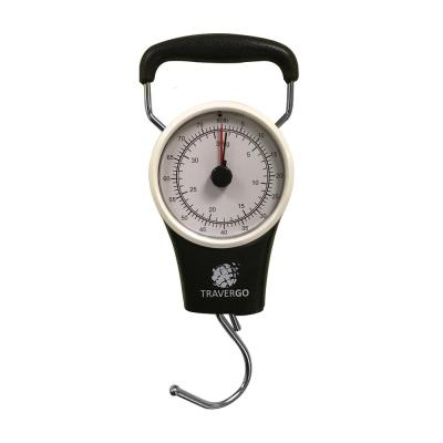 Analog Black Luggage Scale with Hook