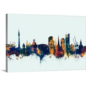 """Dortmund Germany Skyline"" by Michael Tompsett Canvas Wall Art"