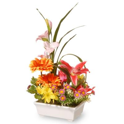 15 in. Potted Floral Arrangement