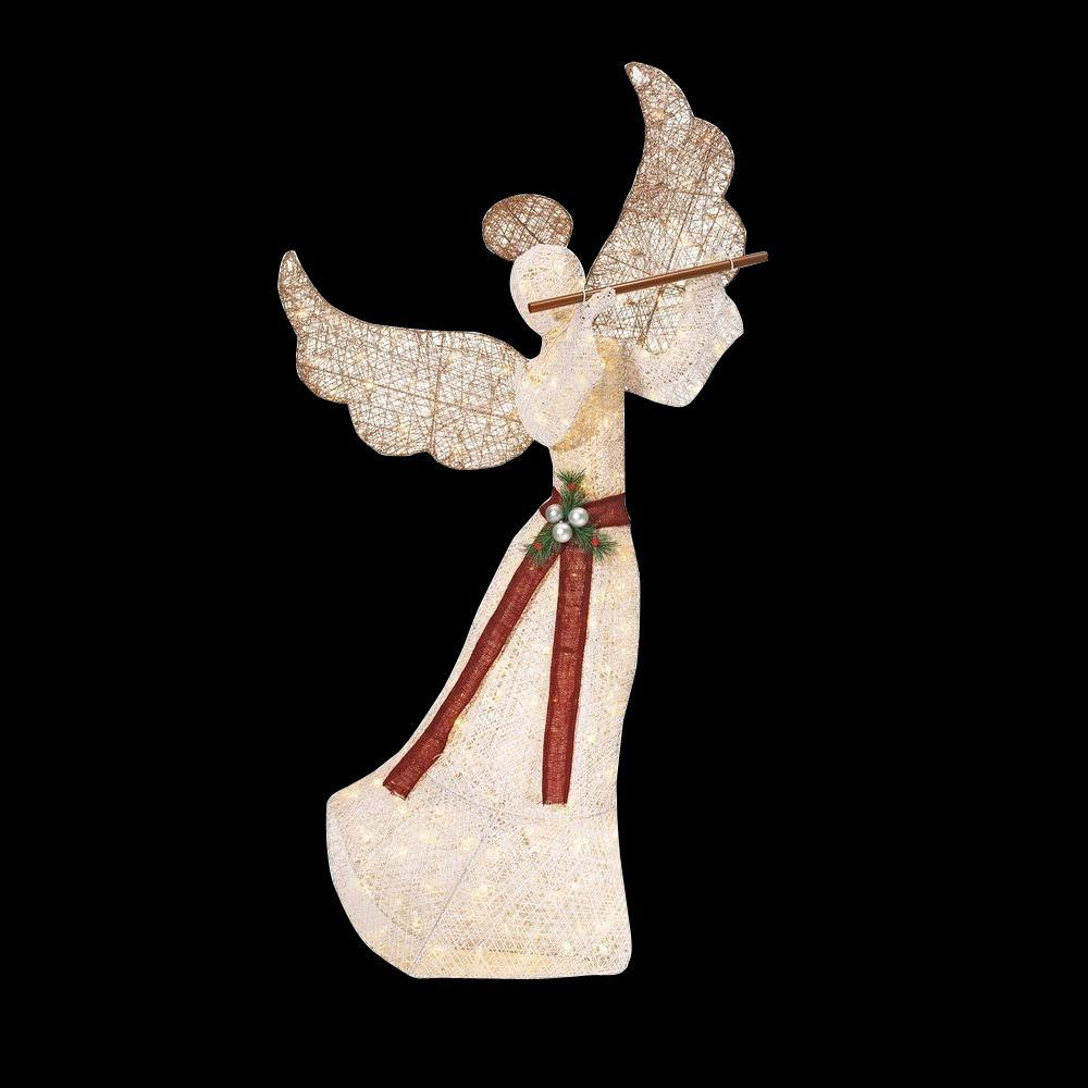 Home Accents Holiday 71 5 In Led Lighted Angel With Flute
