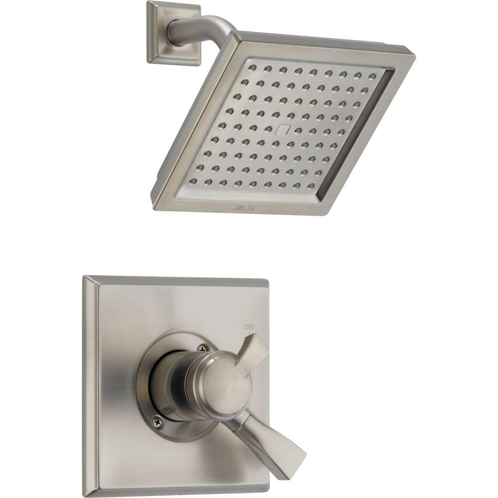Captivating Delta Dryden 1 Handle Shower Only Faucet Trim Kit In Stainless (Valve Not  Included