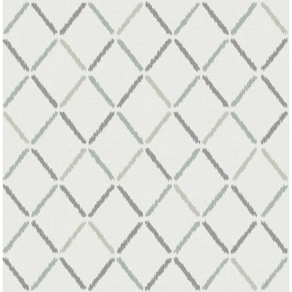 A-Street Allotrope Grey Linen Geometric Wallpaper 2902-25535